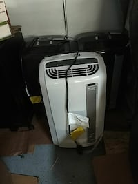 white and black portable air cooler