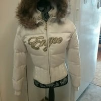 Enyce white bomber jacket, youth sz L, or adult S Mississauga, L5R 3E6