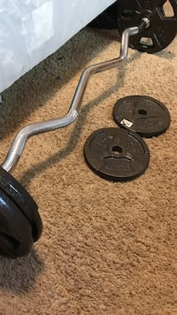 Curl Bar w/ 50 lbs Wichita, 67216