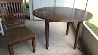 Round brown wooden coffee table Largo, 33771