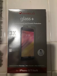 iPhone 8 glass screen protector.  Stockton, 95219
