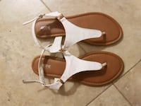 pair of brown leather open-toe sandals Edmonton, T5C 0B2