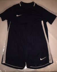Two black-and-white Nike Dri-fit polo shirt and gym shorts London, W12 9AG