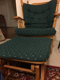 Green and brown wooden armchair for sale