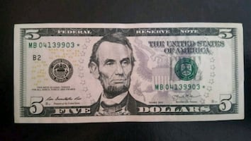 Cool $5 Bill STAR NOTE