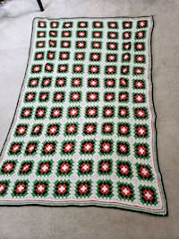 green, red, and white floral area rug Fox Point, 53217