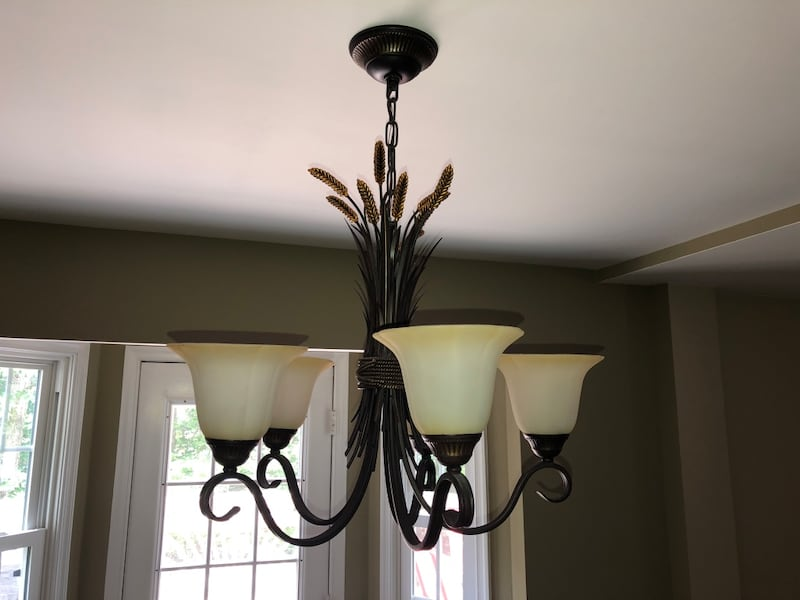 Portfolio 26-in 5-Light Bronze Tinted Glass Standard Chandelier 96630e85-dbdf-4424-a33f-c85cfb871d9a