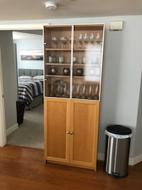 brown wooden cabinet with shelf Arlington, 22201