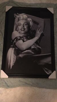 Marilyn Monroe photo with black wooden frame Citrus Heights, 95610
