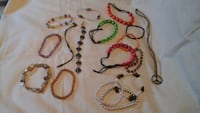 three assorted color beaded necklaces Las Vegas, 89121