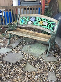 Metal and wood painted bench Breaux Bridge, 70517