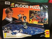 VINTAGE Rose Art Brand - LEGO 2 in One Floor Puzzle Lego- System Space Toronto