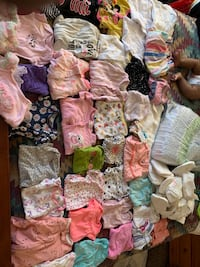 NB + 3mo Baby Clothes and Diapers
