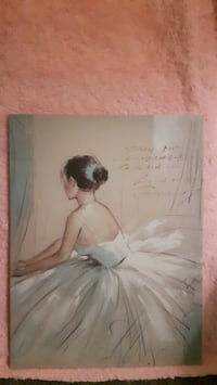 2 Canvas Paintings of a Beautiful Lady in a gown
