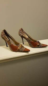 Size 10 Multi Print pointed-toe heeled shoes Mount Laurel, 08054