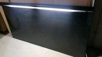 Bed headboard with light