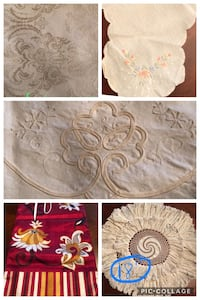 VINTAGE TABLE LINENS  TABLECLOTHS RUNNERS DOILIES BREAD BASKET LINER Coral Springs, 33065