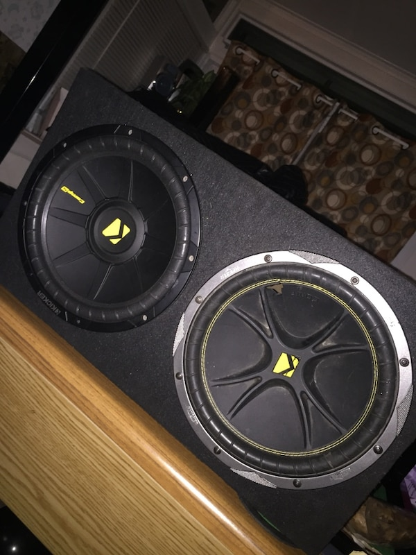 Black kicker subwoofer with enclosure 12inch