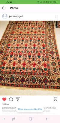 red, white, and black floral persian area rug Mississauga, L5V 2X2