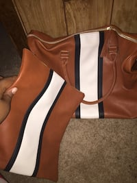 brown and white leather tote bag Detroit, 48227