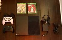 Xbox one 500gb + fifa 17 + 2k17 + wireless and wired controllers