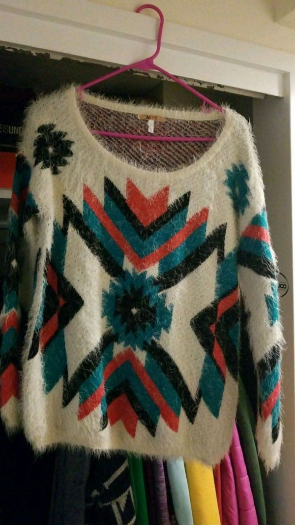 Fuzzy sweater large