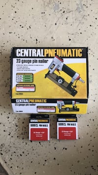 Brand new never used pin nailer with pins. I have no use for it so make me an offer and get it out of here Manteca, 95336