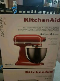 red and black KitchenAid stand mixer box Kitchener, N2A 1R7