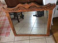 Vintage wooden mirror  Kitchener, N2M 1L4