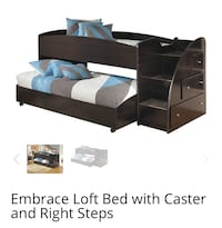 Black loft bed with stairs & storage Houston, 77082