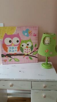 Owl lamp with matching picture Matthews