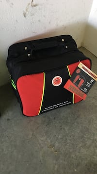 Black and red auto safety kit bag