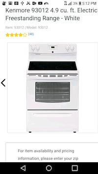 5.3 cu. ft. Self Cleaning Electric Range  Renton, 98055