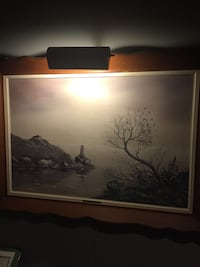 Gorgeous original oil painting by W E Thibault stunning scenery comes with light frame Ottawa, K1H 7K9
