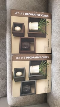 Decorative Cubes ($15 each, $25 for both) Richmond, V6V 2W4