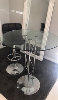 Glass top high table Surrey, V4N