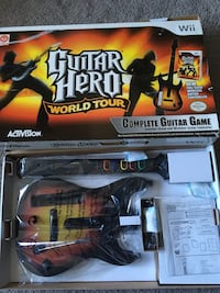 Wii guitar hero world tour complete guitar game