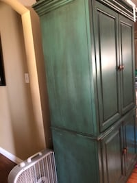 gray wooden 3-door wardrobe West Covina