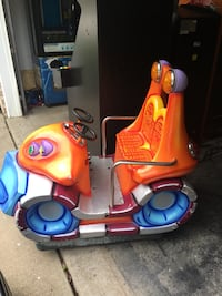 Coin operated kiddie rides work great tales wuarters and plays music