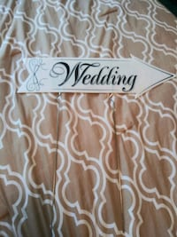"Wedding directional sign 24"" long Gaithersburg, 20886"