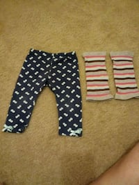 Baby girl pants and leg warmers 12 months 573 mi