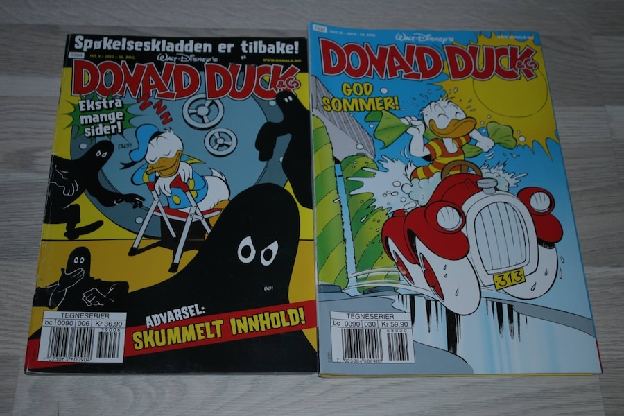 8 Donald Duck blader. 1 Koster 15,-. Alle for 70,- - Rogaland