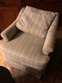 white and gray stripe fabric sofa chair Stow, 44224