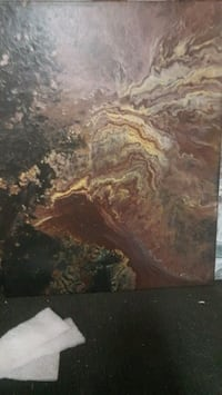 brown and black abstract painting Winnipeg, R3L 1M3