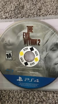 Sony ps4 the evil within game disc