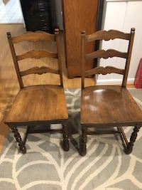 2 wooden chairs Falls Church, 22042