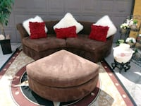 LIVING ROOM SET SUEDE BROWN COLOR CLEAN AND FIRM C