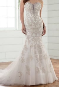 Wedding Dress - Ivory Silver Lace over Antique Ivory Gown by Essense of Australia Frederick, 21703
