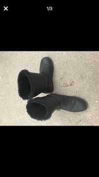 Pair of black leather boots Ames, 50014