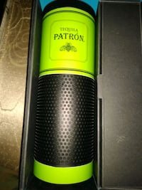 black and green and gray portable speaker
